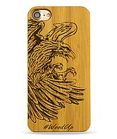 Деревянный чехол на Iphone 6 plus с лазерной гравировкой Bird