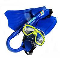 Дети дайвинг купание набор 3шт очки маска+сухая трубка+ласты
