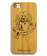 Деревянный чехол на Iphone 6 plus с лазерной гравировкой Сердце-1