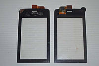 Оригинальный тачскрин / сенсор (сенсорное стекло) для Nokia Asha 308   309   310 (черный цвет, самоклейка)