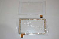 Оригинальный тачскрин / сенсор (сенсорное стекло) для Globex GU7010C (белый цвет, самоклейка)