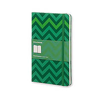 Блокнот Moleskine Limited Chevron Средний 240 страниц в Линейку Зеленый (13х21 см) (9788867324217)