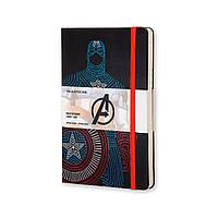 Блокнот Moleskine Limited Avengers (Мстители) Средний 240 страниц в Линейку Капитан Америка (13х21 см) (8055002852722), фото 1