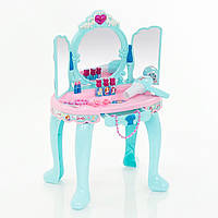 Детское трюмо Frozen, зеркало закрывается, звуковые эффекты, фен работает, подарки для девочек