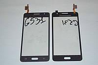 Оригинальный тачскрин сенсор (сенсорное стекло) Samsung Galaxy Grand Prime VE G531 G531H G531Fсерый самоклейка