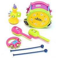 5 штук Kids Baby Roll Drum Музыкальные инструменты Стандарты Набор Набор детских игрушек для детей