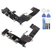 Зарядная портовая док-станция Коннектор Замена гибкого кабеля + Ремонт Набор для iPhone 5S