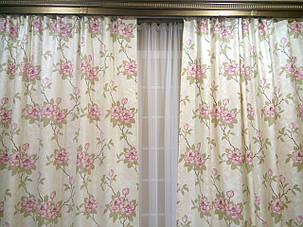 """Комплект штор """"Изабель"""", розовый цветок, фото 2"""