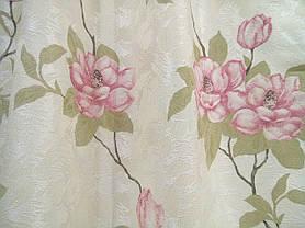 """Комплект штор """"Изабель"""", розовый цветок, фото 3"""