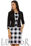 Платье-костюм имитация из комбинированного трикотажа