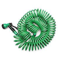Ева 25м сад спиральный шланг труба с форсункой стиральной машине