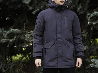 Мужская зимняя парка Glo-Story (Гло) темно-синяя