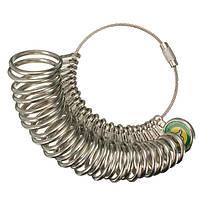 27 шт металлический палец кольцо sizer датчик измерения ювелирных изделий США размер от 1 до 13
