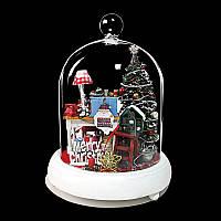 Iiecreate YDS-01 Рождественский подарок Happy Days DIY Dollhouse With Light Music Обложка Декор мебели