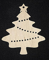 Новогодние декоративные подвески для раскраски, лазер, 8.5 см., 12/10 (цена за 1 шт. + 2 гр.)