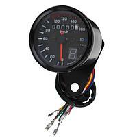 Универсальный мотоцикл LED Одометр Спидометр Speedo Tachometer Gauge