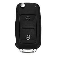 2КнопкаДистанционныйКлючFOBЧехол С Батарея Для VW Transporter T5 Polo GOLF Polo