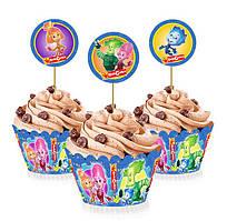 """Топперы для капкейков, десертов и кексов """"Фиксики"""", 6 шт./уп."""