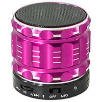 Колонка Lesko BL S28 Розовая Bluetooth музыкальная громкая для телефона планшета смартфона в автомобиль