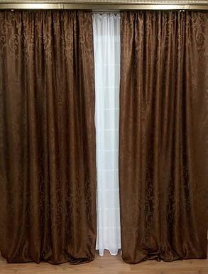 """Готовые Портьеры """"Софт Интерио"""", коричневый, фото 2"""