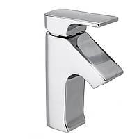Современная хромированная латунь Ванная комната Смеситель для раковины с одним отверстием для горячей холодной воды 1/2