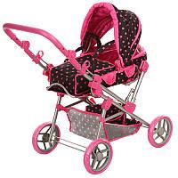 Игрушечная коляска для кукол 9368/017, складной козырек, сьемная люлька, корзина для игрушек, детские коляски