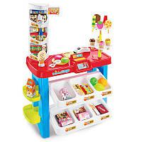 Детский игрушечный магазин 668-21 в коробке (прилавок, продукты, 40 предметов, сканер) Royaltoys