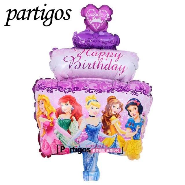 """Фігурний повітряна кулька """"Тортик"""" принцеси.44*30 см"""