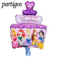 """Фигурный воздушный шарик """" Тортик"""" принцессы.60 см"""