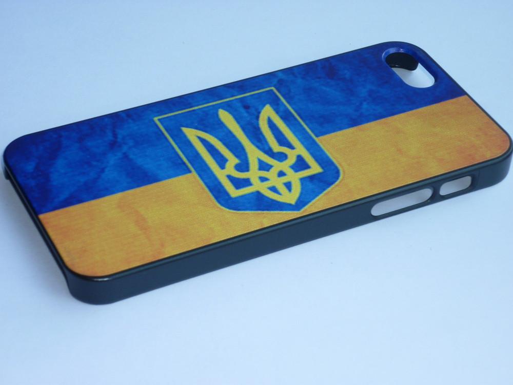 Чехол для iPhone 5 5S с украинским флагом и гербом