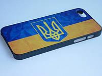 Чехол для iPhone 5 5S с украинским флагом и гербом, фото 1