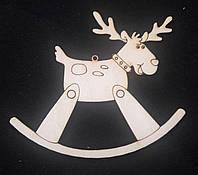 Новогодние декоративные подвески для раскраски, лазер, 10х8.6 см., 12/10 (цена за 1 шт. + 2 гр.)