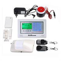 433 МГц ЖК-дисплей сенсорной клавиатурой беспроводной беспроводной GSM домашняя охранная сигнализация