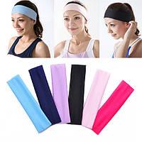 Honana BX-808 Эластичная Ladys Plain Headbrand Yoga Спортивная мытье лица Snood 6 цветов