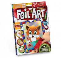 Набор аппликация цветной фольгой foil art