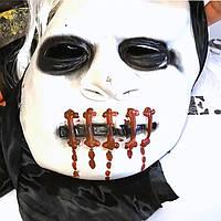 Маска зомби с зашитым ртом