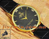 Мужские наручные часы Rolex Quartz Dimond Gold Black хорошее качество