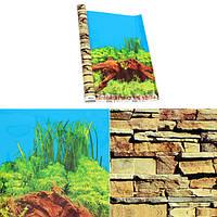 Аквариумный фон двухсторонний плакат украшение для аквариума