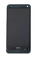 Оригинальный дисплей (модуль) + тачскрин (сенсор) с рамкой для HTC One M7 802w Dual SIM (черный цвет)