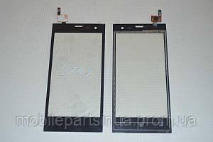 Оригинальный тачскрин / сенсор (сенсорное стекло) для Highscreen Zera S (Rev.S) (черный цвет) +СКОТЧ В ПОДАРОК