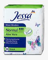 Jessa Maxi-Binden Женские прокладки с экстрактом Алоэ Вера (3 капли) 20 шт.