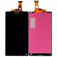 Оригинальный дисплей (модуль) + тачскрин (сенсор) для Sony Xperia ZL C6502 C6503 C6506 L35h L35i (черный)