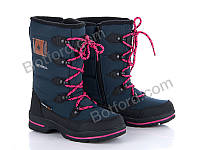 Сапоги подросток Style-baby 402SB907-6U navy-black