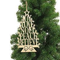 РождественскаявечеринкаДомашнееукрашениеАнглийскоедерево алфавита Висячие украшения для детей Детский подарок