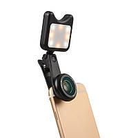 Apexel APL-3663FL Универсальный светодиодный светильник Selfie Wide Angle Macro Объектив для планшета мобильного телефона - 1TopShop