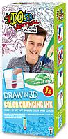 Набор для детского творчества с 3D-маркером - МЕНЯЮЩИЙ ЦВЕТ (3D-маркер, шаблон)