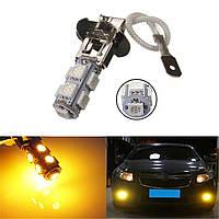 В аренду H3 9smd 5050 автомобиль LED туман желтый свет ламп накаливания 12В 2вт 64lm
