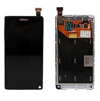 Оригинальный дисплей (модуль) + тачскрин (сенсор) с рамкой для Nokia N9 N9-00