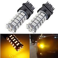 Т25 3157 68 СМД 3528 LED авто стоп хвост свет тормоз Лампа 12 В постоянного тока