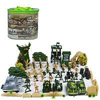 100pcs / Set Пластиковые Военный Модель Солдаты Фигуры Сцена Игрушка Детский подарок детям